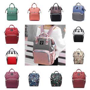 Подгузники подгузники Сумки для пеленки Кормящие мамочки для беременных рюкзаков бренда дизайнерские сумки мода мать рюкзак открытый путешествие сумочка организатор 56 стилей wy1298