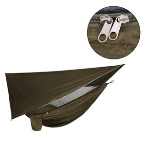 Tents And Shelters 1 Set Outdoor Camping Hammock Tent With Waterproof Awning Canopy Sunshade