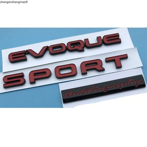 Red Letters EVOQUE SPORT Autobiography Trunk Lids Rear Badge sticker Emblems Badges for Land Rover Discovery