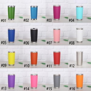 20oz Stainless Steel Tumblers Vacuum Insulated Double Wall Wine Glass Thermal Cup Coffee Beer Mug With Lids For Travel