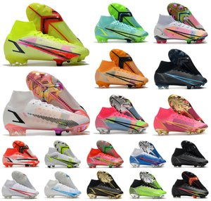2021 superfly 8 الثامن 360 النخبة fg soccer shoes xiv جديد موسم اليعسوب cr7 ronaldo rowdacious الدافع الأسود حزمة رجل النساء الأولاد أحذية كرة القدم عالية المرابط US3-11
