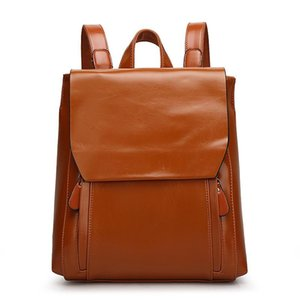 Backpack TangDe Bags For Women Ladies Fashion Pu Oil Wax Leather Casual Tote Shopping Luxury Lady Hand