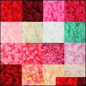 Festive Party Supplies Home Gardenpcs Artificial Rose Petals Wedding Petalas Colorf Silk Flower Aessories 23Gb Decorative Flowers & Wreaths