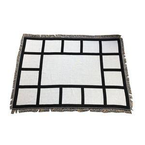 Sublimation Blanket White Blank Blankets for Sublimation Carpet Square Blankets for Sublimating Theramal transfer Printing Rug GGA5035