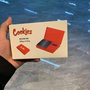 Cookies Backwoods Mini Electronic Pocket Scale 500G 0.01G Ювелирные Изделия алмазные весы ЖК-дисплей с розничной упаковкой VS слойки