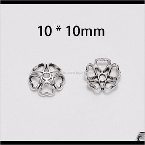 Tools 50Pcslot Peach Heart Beads Hollow Flower Loose Sparer Apart End Bead Caps For Diy Jewelry Making Findingds Wmtwqu Lnajr Gqlfu