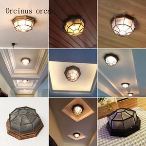 Ceiling Lights American Retro Industrial Wind Lamp Balcony Corridor Bathroom European Style Originality Led