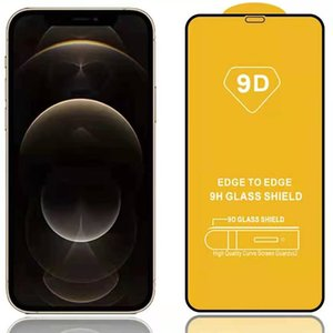 9D Full Cover Glue Tempered Glass Phone Screen Protector For iPhone 12 PRO MAX 11 XR XS 8 7 6 Plus Samsung A01 A11 A21 A31 A41 A51 A71 S21
