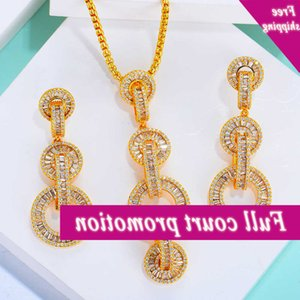 Missvikki Luxury Women Wedding Hanger earrings Chain jewellery Set Romantic Trendy New Design Fashion Shiny Poison For Ladies