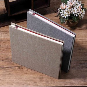 New Linen 16inch DIY Photo Album Lovers Birthday Gift Wedding Photos Baby Photo Ablum Scrapbook Paper Crafts Albums Sticky 210330