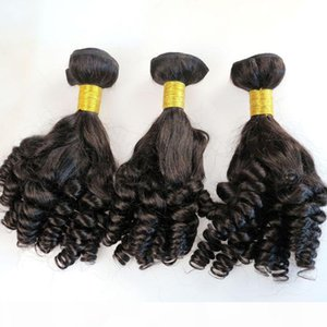 Virgin Human Hair Weaves Brazilian Hair Bundles Funmi Wefts 8-34Inch Unprocessed Peruvian Indian Mongolian Mink Hair Extensions Wholesale