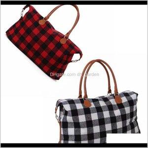 Buffalo Weekender Bag 22Inch Check Handbag Plaid Large Capacity Travel Tote With Pu Handle Storage Maternity Bags Sea 4Nga6 Cpino