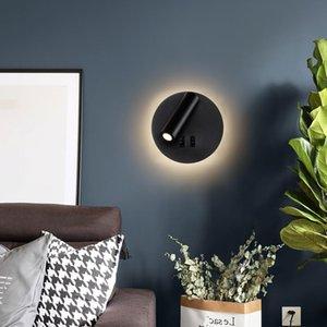 Wall Lamp Modern Light Led Reading Spotlight Nordic Style For Bedroom Bedside Living Room Lighting