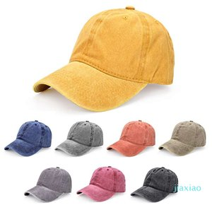 New Fashion Casual Wild Washed Baseball Cap Couple Visor Solid Color Street Travel Soft Top Cap Can Be Customized Logo