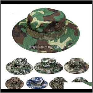 Cotton Bucket Hat For Men Fashion Military Camouflage Camo Fisherman Hats With Wide Brim Sun Fishing Bucket Hat Camping Hunting Hat Fv Gp8Fv
