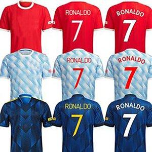 Soccer Jerseys 21 22 RONALDO United jersey SANCHO 25 GREENWOOD RASHFORD 10 B. FERNANDES 18 POGBA 6 MUFC football shirts MAN U kits Kids Equiment 2021 2022