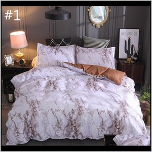 Sets 3 Pieces American European Style Graining Bedding Set One Duvet Cover And Two Pillow Full Euk Queen Sizes Bed Covers Home E5Xj9 Q2Fr6