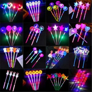 Christmas toys LED flashing light up sticks glowing rose star heart magic wands party night activities Concert carnivals Props kids toy