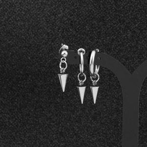 Punk Kpop DNA Coreano Simples Aço Inoxidável Stud Brinco Bangtan Meninos V Acessórios de Jóias para Mens e Mulheres1 372 Q2