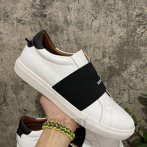 2021 최고 품질 남성 여자 가죽 캐주얼 신발 패션 화이트 플랫 야외 매일 드레스 세련된 상자 크기 36-45