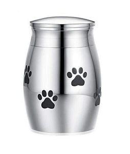 Kedi Taşıyıcıları Kasalar Evleri Küçük Kremasyon Urn Pet Külleri Için Mini Keepsake Paslanmaz Çelik Anıt Urns Köpekler Kediler Tutucu