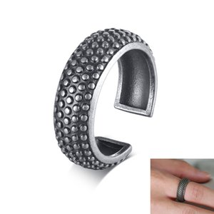 7mm Vintage Tire Finger Ring Men Fashion Stainless steel Open Wedding Rings Band for male Party Jewelry Gifts