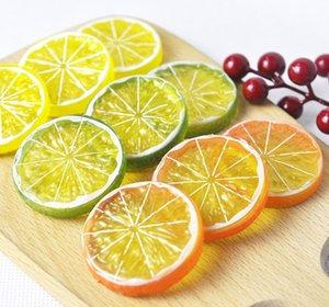 5 cm artificiale frutta simulazione limoni fette frutti di Natale ornamento ornamento cucina matrimonio falso decorazione di limone forniture
