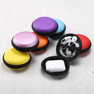 Mix colors Earphone Holder Carrying Hard Bag Box Case For Earphone Headphone Accessories Earbuds memory Card USB Cable AHF6178