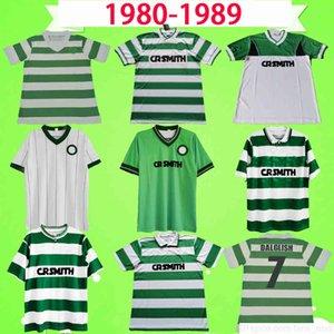 Celtic 1980 1984 1985 1986 1987 1988 1989 1990 Retro Futbol Forması 85 86 87 88 Vintage Futbol Gömlek Üniforma Larsson Sutton McNamara Dalglish