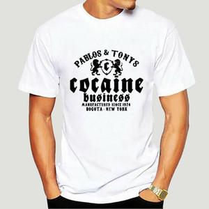T-shirt Kokain Pablo Escobar Tony Montana El Chapo Pot Coton à manches courtes Hommes Mode T-shirts Rond Col Cold-1770A T-shirts hommes