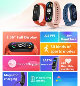 Xiaomi Mi Band 6 Smart Bracelet AMOLED Blood Oxygen Fitness Traker Heart Rate Bluetooth Waterproof Smart band 6