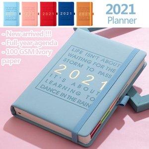 & PLANNER Plan 2021 Schedule English Page Agenda Notepads