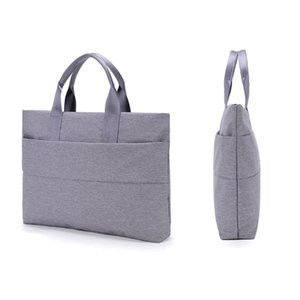 Large Capacity Unisex Laptop Handbag Lightweight One-Shoulder Briefcase Bussiness Casual File Notebook Bag For 13 inch Tote Q0112