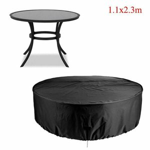 Storage Bags 1 * Outdoor Round Table Cover Large Waterproof Garden Patio Chair Set Furniture Covers