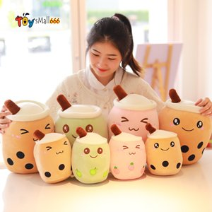 Kawaii Plush Toys Stuffed Toys For Children 24cm Cute Small Party Toys Kids Baby Doll Milktea Drink Bottle Strawberry Pillow Toy