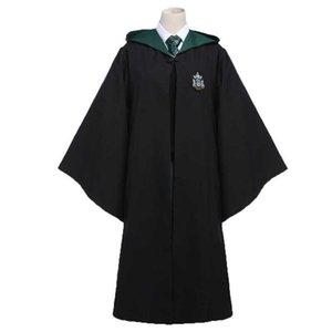 Children Men Women Robe Cloak Cosplay Magic School Uniform Sweater Wand Master Pastor Christmas Halloween Costume Y0913