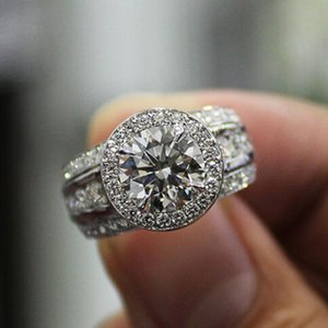 Wedding Rings Huitan Full Round Cubic Zirconia Women Silver Color Finger Accessories Modern Engagement Fashion Jewelry