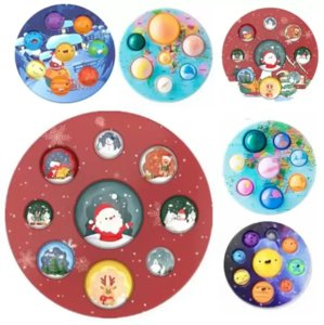 Christmas Fidget Toys Dimple Autism Needs Squishy Stress Reliever Decompression Toy Adult Kid Tie Rainbow Anti-stress Gift Bubble Music
