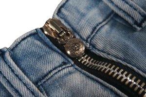 Zipper CH Women's Design Ch Crosin Double-sided High Waist Denim Super Shorts
