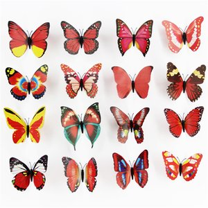 12cm simulation butterfly refrigerator wall sticker home decoration 3D butterfly magnet living room bedroom decoration ZC199