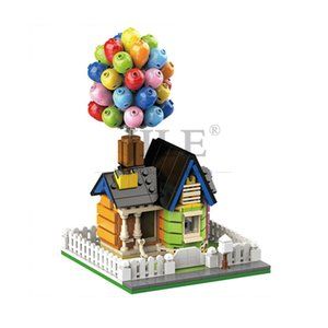Flying Balloon House Up 7025 Suspending Home DIY Building Brick Blocks City Street View Compatible with Assembles Part Gift