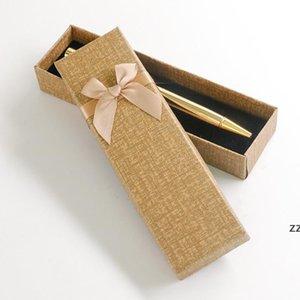 Cardboard Bow Pen Box Cardboard Boxes Gift Box Bow Girl Heart Cute Packaging Box Wholesale HWD10010