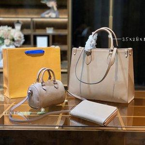 3 stück luxurys designer frauen mode totes handtaschen kreuz körper umhängetaschen kombination berühmte klassische blume braun kapazität tragbarer tagrucksack 07
