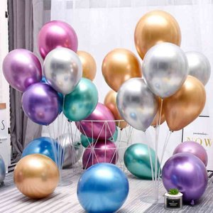 Balloon latex Metal chrome color Thickening pearl Balloons Baby Shower Wedding Birthday Party Festive Layout Decoration WMQ756