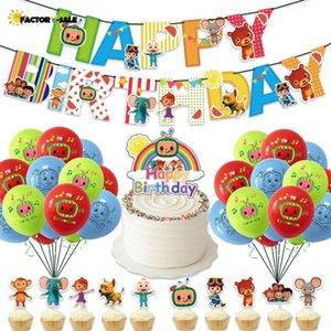 COCOMELON 12InCH Dibujos animados Bebé Familia Forma Moda Precioso Día de los Niños Brithday Decoración de fiesta Ornamento Hogar Juguetes Regalo FM22