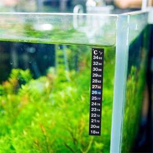 Free Aquarium Fish Tank Thermometer Sticker Reptile Temperature Gauge Digital Submersible Dual Scale Stick-on