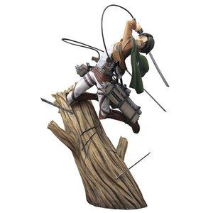 Attacco anime su Titan Artfx J Levi Rinnovamento Pacchetto Ver. Azione PVC Figura Anime Figura Modello Giocattoli da collezione Regalo da collezione X0503
