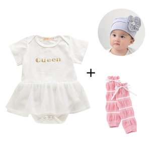 Rompers Baby One Piece Clothing Clothes Toddler New Born Girl Cotton Jumpsuit Leg Warmers Hats 3PcsSets B4519