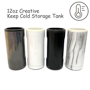 Summer Cold Coolers Storage Tank Colding Coke Cup Double-walled Stainless Steel Insulated Keeping Cooler for 12 Oz Slim Cans