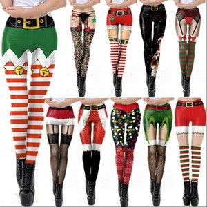 Christmas Leggings Womens Legging Active Workout Running Gym Pants Stretchy Xmas Sale Casual Elk Snow Print Slim